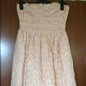 NWOT Wedding/Cocktail Dress blush lace size 12